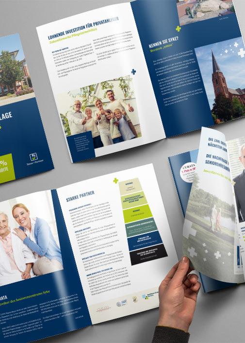 Corporate Design angewendet auf Druckschriften - Brunnée Marketing - Werbeagentur und Grafikdesign.
