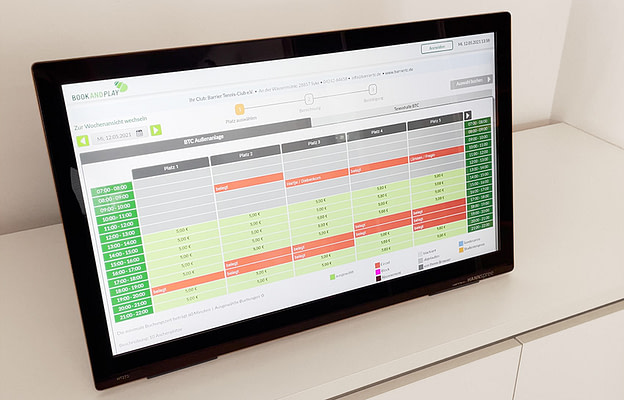 Monitor mit bookandplay