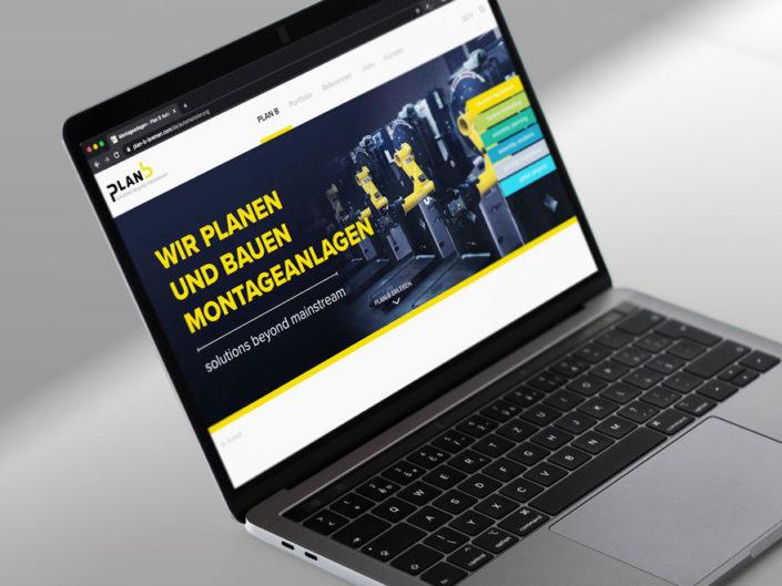 Screenshot full responsive Webdesign plan b - Design von Brunnee Marketing- und Werbeagentur Bremen
