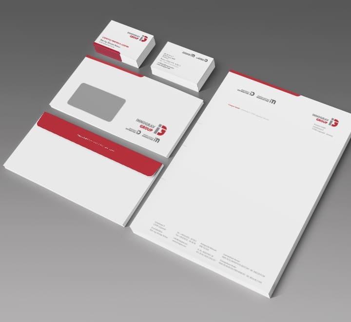 Corporate Identity Innograv Group am Beispiel der Geschaeftsausstattung des Familienunternehmens Innograv Group.