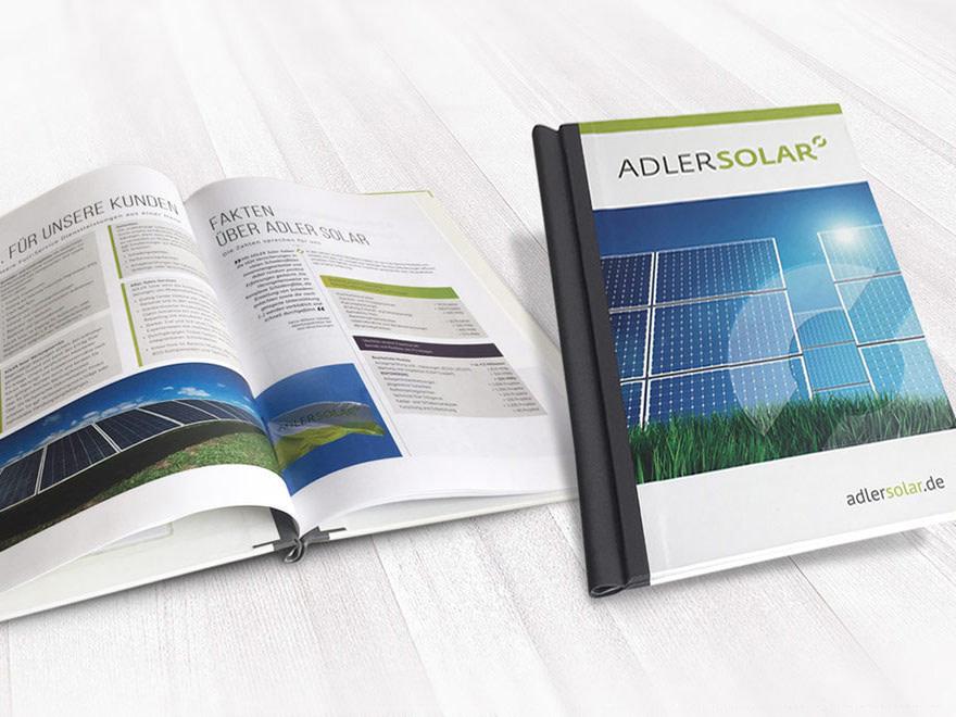 Druckschriften fuer Adler Solar - Umsetzung und Druck durch Brunnee Werbeagentur Bremen