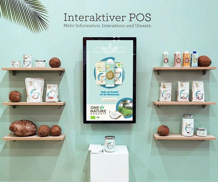 Interactive Digital Signage für die Biofach Nürnberg. Entwickelt von Brunnee Marketing- und Werbeagentur Bremen, Germany