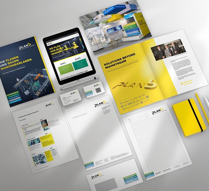 Blick auf die Corporate Guideline von plan b High Tech engineering Bremen.