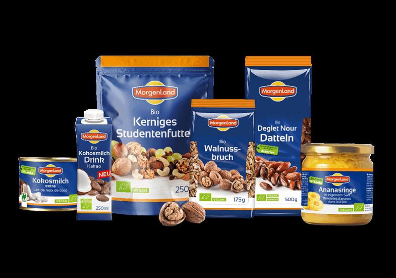 Productrelaunch Biofood - neues Verpackungsdesign für Morgenland Naturkost von der Brunnee Werbeagentur Bremen
