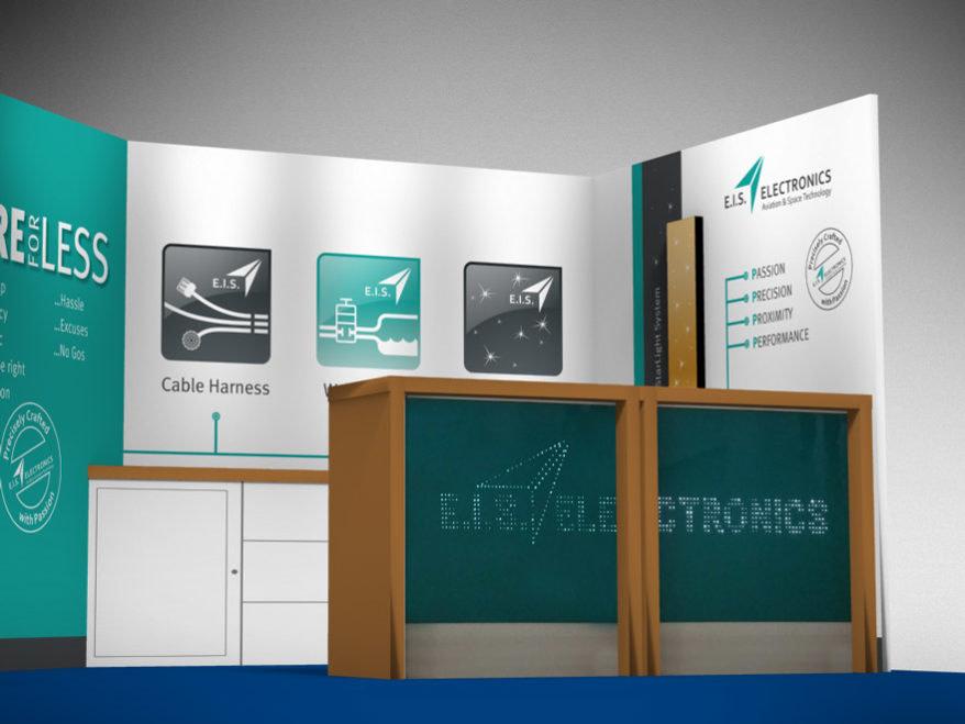 Messestand E.I.S. Electronics - Brunnee Marketing und Brunnee Werbeagentur