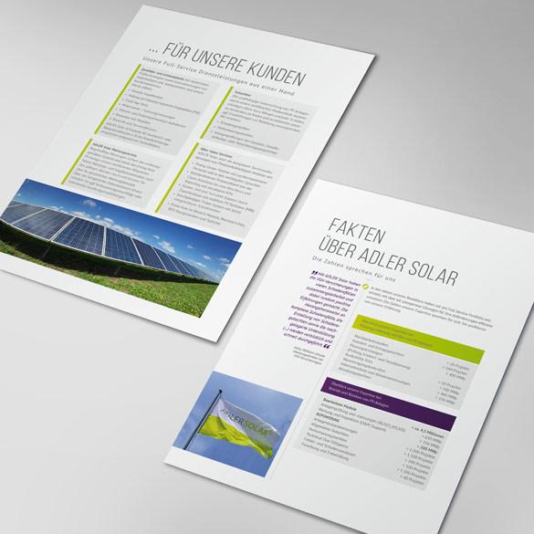 Adler Solar Einzelseite