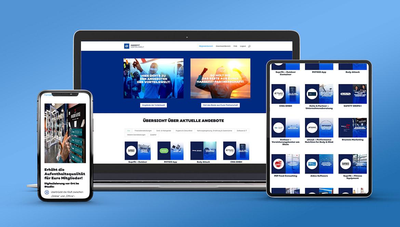 Website HANSEFIT Vorteilswelt